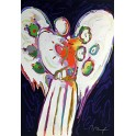 Peter Max - Angel With Heart On Black