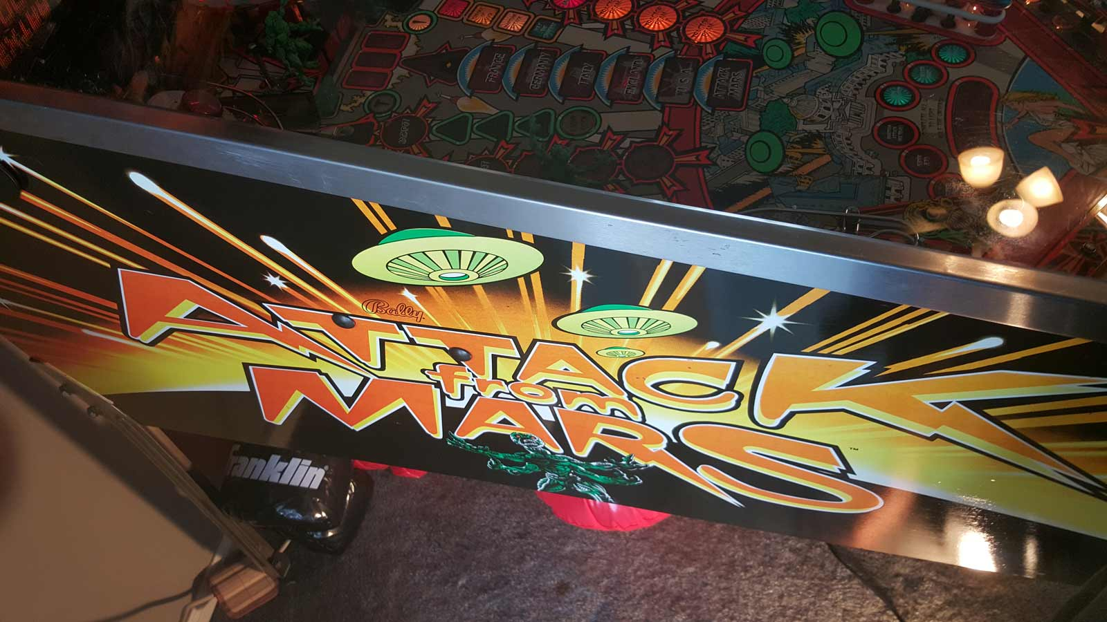 attack from mars pinball machine for sale
